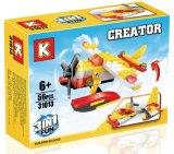 Kind-Plastik 3 in 1 Block-Hubschrauber-Spielzeug