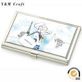 Supporto di scheda in bianco d'argento di nome di affari del metallo per il regalo di promozione