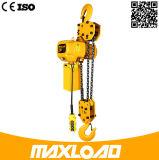 alzamiento de cadena eléctrico 380V de 7.5t los 5m con el gancho de leva
