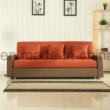 Sofá de madera de la tela grande moderna del sofá de la sala de estar (UL-NS067)