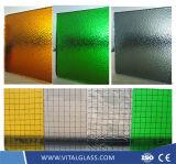 3-6mm claro Flora patrón de vidrio con CE & ISO9001
