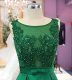 A Line Green Evening Prom Dress