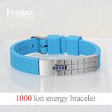 Wristband de la energía de la venta al por mayor de la fábrica de Hottime disponible para la insignia del laser (20015)