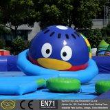 Hecho en el UFO inflable del parque del agua de China