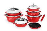 Cookware 13PCS stabilito della fusion d'alluminio Tk1510