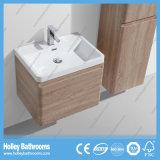 Altos accesorios de baño de brillo de melamina con lámpara LED y el grado de la tapa del cajón