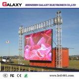 Fijos al aire libre de interior instalan la publicidad de la pared de alquiler del vídeo de la pantalla de la pantalla del LED