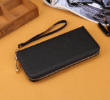 woman Long Clutch Leather 지퍼 숙녀 지갑