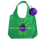 Saco promocional de compras dobráveis com bolsa 3D, estilo joaninha animal, reutilizável, leve, sacos de supermercado e acessível, presentes, Tote