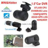 "1.5 "" 5.0mega車のカメラが付いているAmbarella小型A7la50 1296p車DVR、WDR、HdrのGセンサー、GPSの追跡機能"