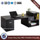 Стол компьютера офисной мебели просто конструкции белый с книжными полками (HX-N0117)