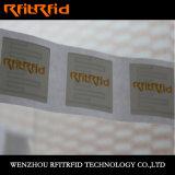 Etiqueta engomada frágil de aluminio entera pasiva de RFID