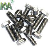 Boulon de zinc DIN 933 de la pente 4.8