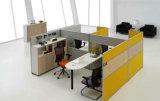 حديثة ألومنيوم زجاجيّة خشبيّة حجيرة مركز عمل/مكتب حاجز ([نس-نو346])
