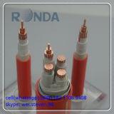 Cabo de fio elétrico de cobre blindado isolado PVC