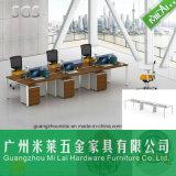 Sitio de trabajo de acero de la oficina de la pierna de la alta calidad, muebles de oficinas con la cabina móvil