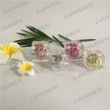 Vaso crema acrilico dentellare del quadrato 10g per l'imballaggio dell'estetica (PPC-ACJ-086)