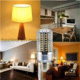 La luz E26 15W del maíz del LED calienta la lámpara de plata blanca del bulbo de la carrocería LED del color