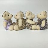 Miúdos do presente do urso da peluche que sentam o brinquedo minúsculo animal de Keychain do luxuoso
