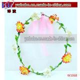 De Hoofdband van de Juwelen van de Manier van de Gift van Kerstmis met Roze Bloem (W1055)