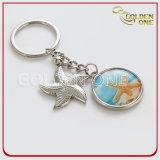 Kundenspezifisches gedrucktes Sun&Beach Art-Metall Keychain
