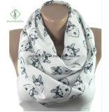 Фабрика шарфа способа грелок шеи волокна Европ напечатанная щенком