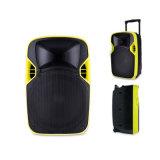 Altavoz portable de la proyección de DJ del sistema plástico del PA de la fuente de la fábrica con la batería