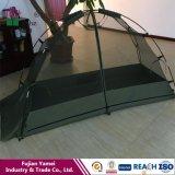 屋外のカのテントの折る蚊帳のテント
