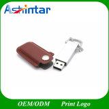 Metall-USB-Stock USB3.0 ledernes USB-Blitz-Laufwerk