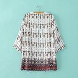 패턴 여자 셔츠를 인쇄하는 긴 소매 형식