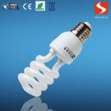 CFLの球根15Wの半分の螺線形のコンパクトなけい光ランプ