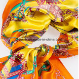 Lenço de seda de 90 * 90cm 100% para mulher