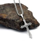 Tegenhanger 2 van de Halsband van de Mensen van de Juwelen van het Staal van het titanium DwarsGrootte