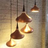 2017 lâmpadas de alumínio de cobre modernas do pendente para a iluminação da cafetaria