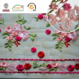 Bello tessuto variopinto Red&Pink C10005 del merletto dell'Africa