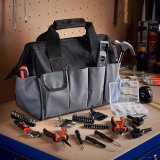 Хранение DIY Incl организатора мешка инструментального ящика домочадца. Ключ молотка плоскогубцев битов