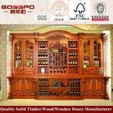 Cremalheira de madeira do vinho do gabinete contínuo Home do vinho do carvalho da mobília (GSP9-038)