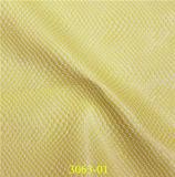 Couro sintético gravado alta qualidade do plutônio da serpente para sapatas, sacos