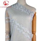 Tessuto ricamato africano di Tulle di colore bianco di Candlace