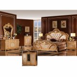 Bed en Garderobe voor het Antieke Meubilair van de Slaapkamer (W803B)