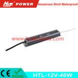 bloc d'alimentation imperméable à l'eau de l'interpréteur de commandes interactif en aluminium continuel DEL de la tension 12V-40W