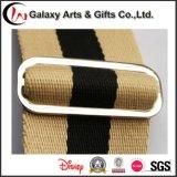 Correia de cintura personalizada forma do homem do algodão do logotipo com curvatura do metal