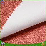 Tela tejida apagón casero de la cortina del poliester de Waterproo franco de la capa de la materia textil
