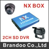 Carro 2CH DVR máximo do cartão de alta resolução de 128g SD