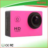 Mini appareil-photo imperméable à l'eau plein HD 1080P de sport de couleur noire