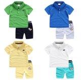 Maglietta di polo di modo di estate del vestito dei ragazzi 2-Piece dei capretti & Shorts stampati