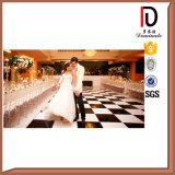 Plancher en bois de danse de nature de teck en gros de mariage (BR-DC108)