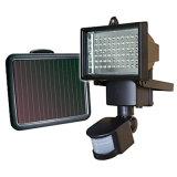 Solarlichter Coolwhite steigen helle im Freien Solar-LED der lampen-10W 60LEDs des Chip-LED Flut-Lichter Garten-Lampen mit PIR Bewegungs-Fühler an