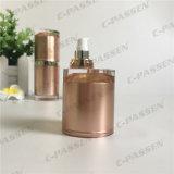 frasco mal ventilado acrílico da loção de 15ml Champagne para o empacotamento do cosmético (PPC-AAB-030)