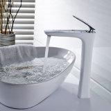 Taraud blanc de bassin de l'eau de salle de bains de chrome de peinture